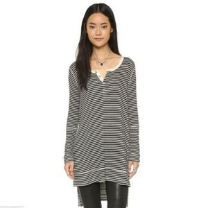 Free People Gwen Henley Striped Tunic XS
